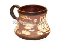 Чашка Кофейная большая коричневая