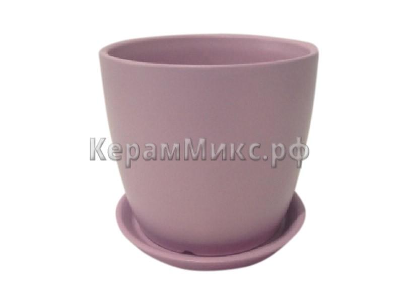 горшок цветочный Осень фиолетовый глянец