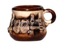 Чашка кофейная малая украинская лепка