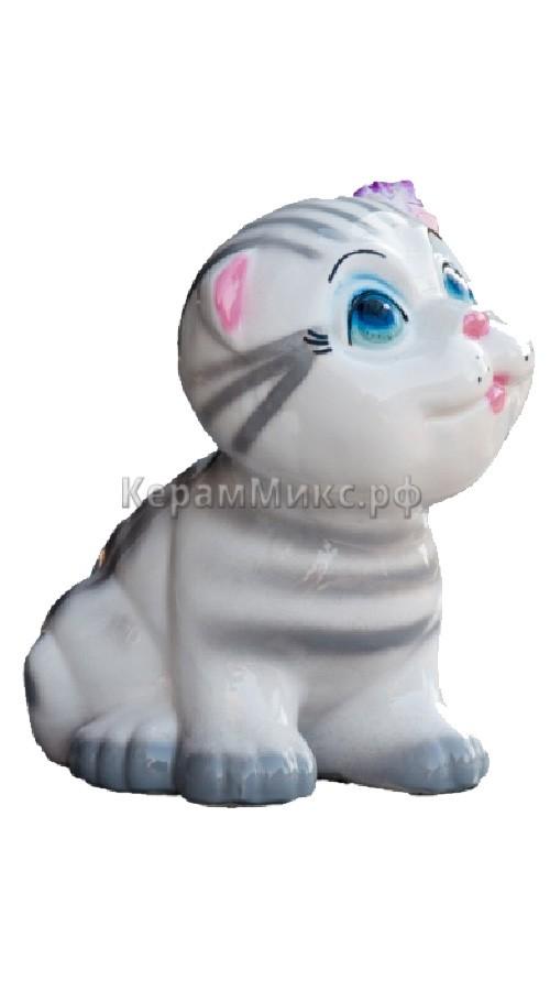 Котёнок серый глазурь