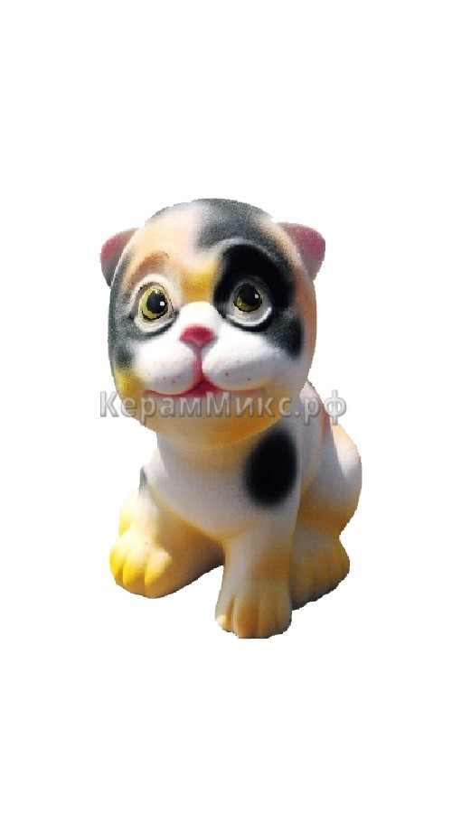 Котёнок белый пятно