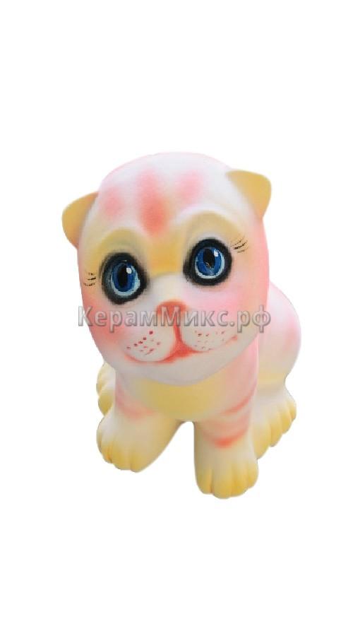 Котёнок розовый полосатый