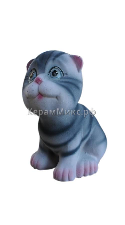 Котёнок серый полосатый