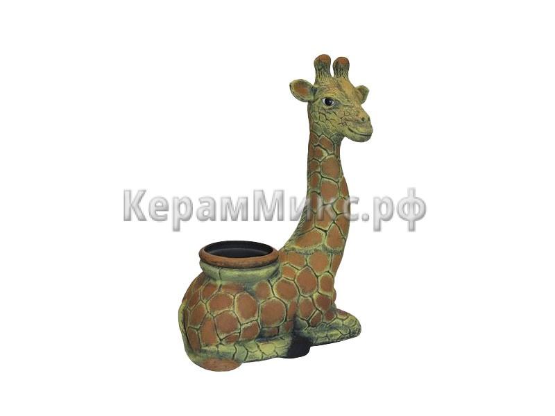 Жирафа кашпо акрил рисованная