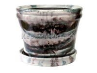 Горшок мрамор 15 л. серый